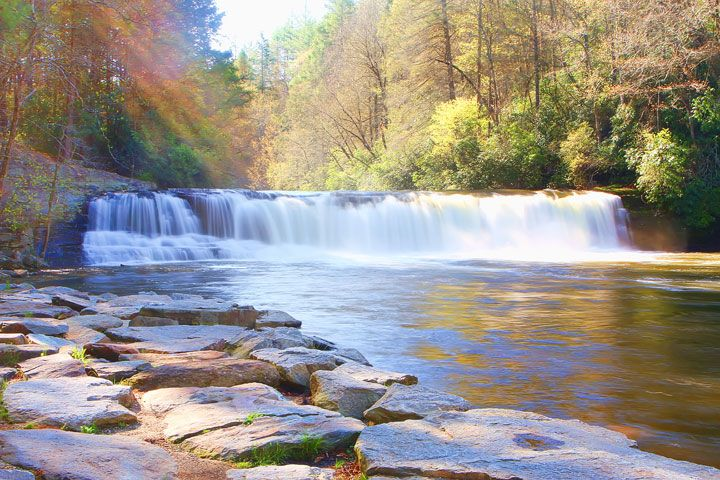 Hooker Falls in Dupont State Forest, near Asheville, NC. One of the filming locations for the Hunger Games!