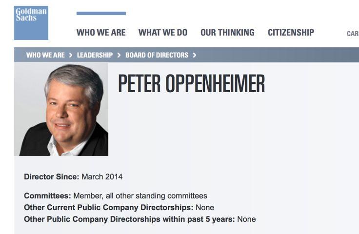 Apple CFO Peter Oppenheimer joins Goldman Sachs Board of Directors