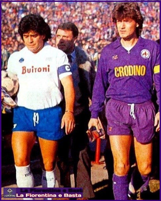 Giancarlo Antognoni e Diego Armando Maradona