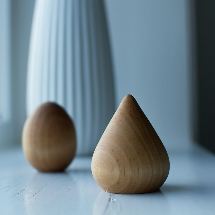 Small wooden sculptures.