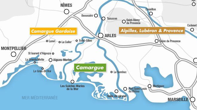 Villes et villages de Camargue et Petite Camargue, Les Saintes-Maries, Vauvert, Saint-Gilles, Saint-Laurent d'Aigouze, Aigues-Mortes   Camargue.fr