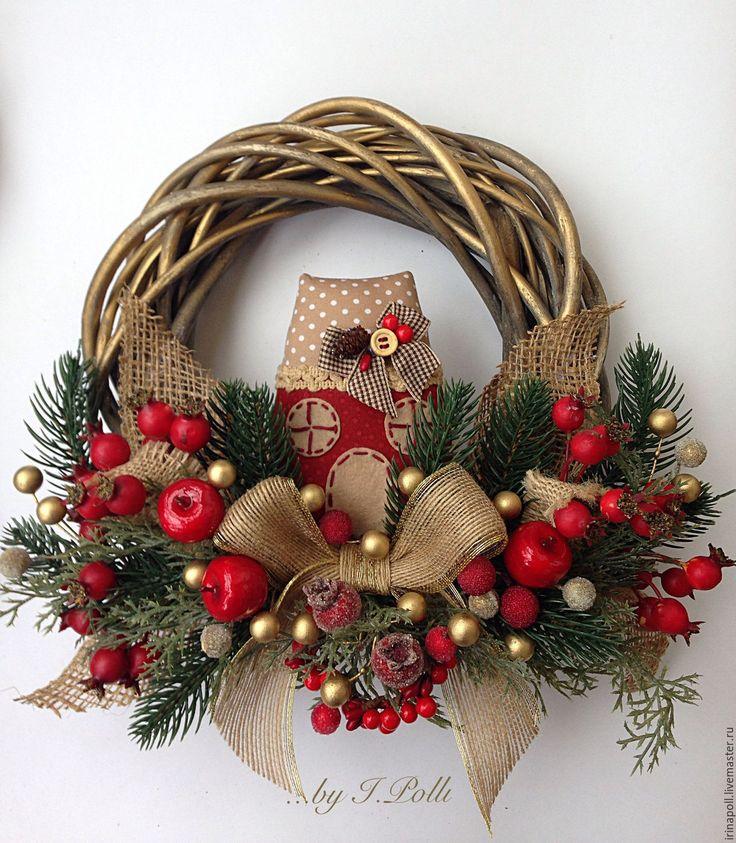 Купить Новогодний венок. Время чудес. - венок, венок новогодний, новогодний венок, венок на дверь