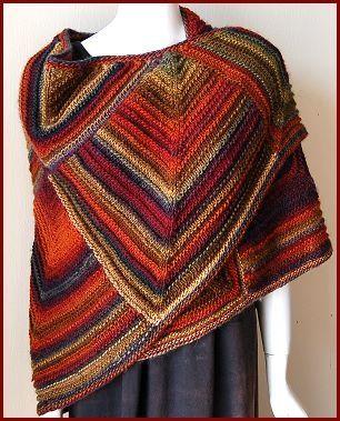 Mochi Plus Mitered Shawl - Crystal Palace Yarns - free knit shawl pattern.