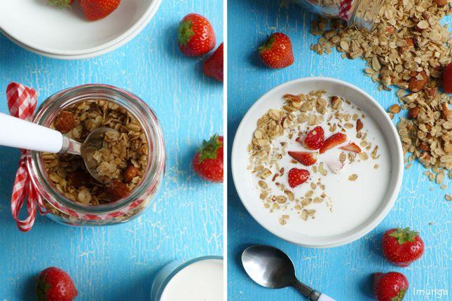 Italian breakfast - granola with milk