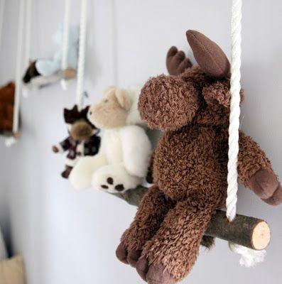 Swing shelves. So Cute. Kids room...