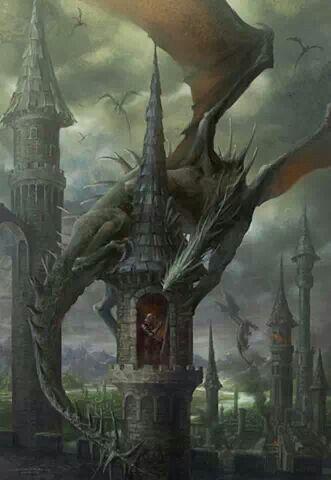Dragon. Dragons. Fantasy art: