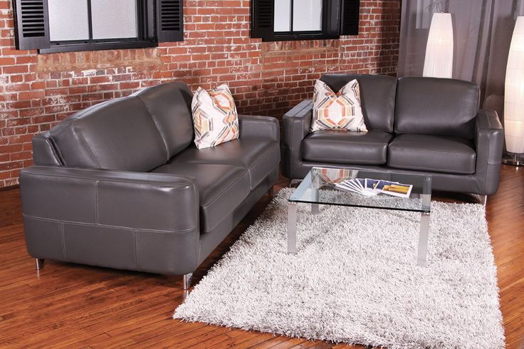 Kinsey leather sofa by Jaymar. Made in Canada
