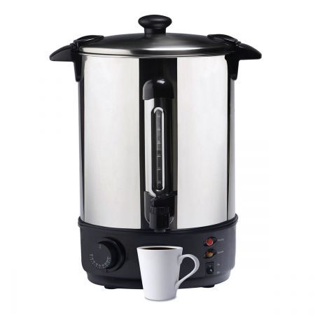 10 Litre Electric Hot Water Boiler Urn - Stainless Steel Design