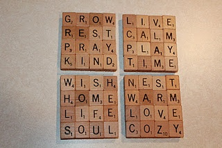 Scrabble Tile Coaster with tutorial and ideas