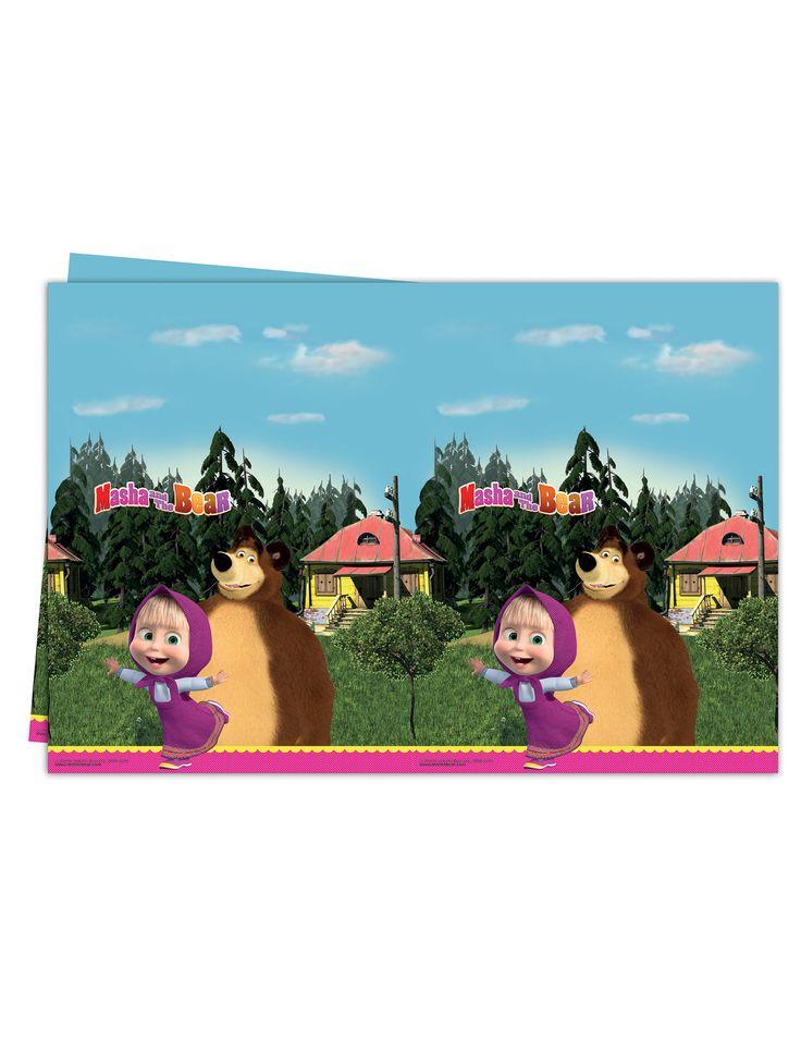Tovaglia di plastica Masha e orso™  su VegaooParty, negozio di articoli per feste. Scopri il maggior catalogo di addobbi e decorazioni per feste del web,  sempre al miglior prezzo!
