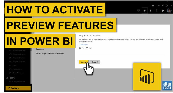 """Activate preview features in Power BI it's pretty simple. Access your Office 365 portal: Click on Power BI Sign in to Power BI, if necessary Click on the """"Settings"""" wheel in the t…"""