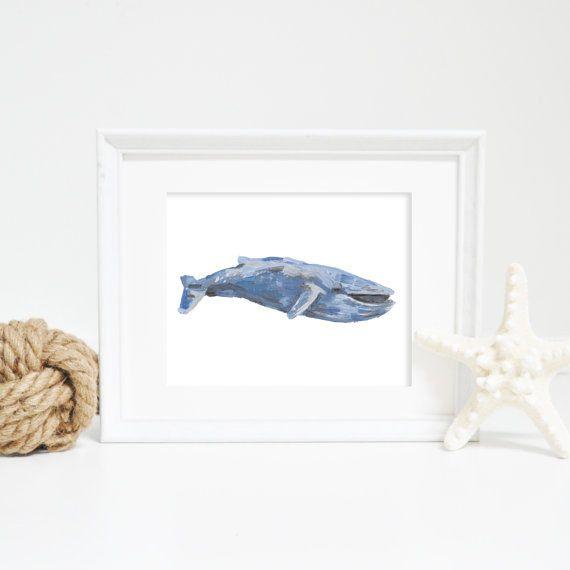 Blue Whale, Whale Wall Art, Whale Print, Blue Whale Print, Printable Wall Art, Digital Downloads, Sealife Prints, Nautical Prints