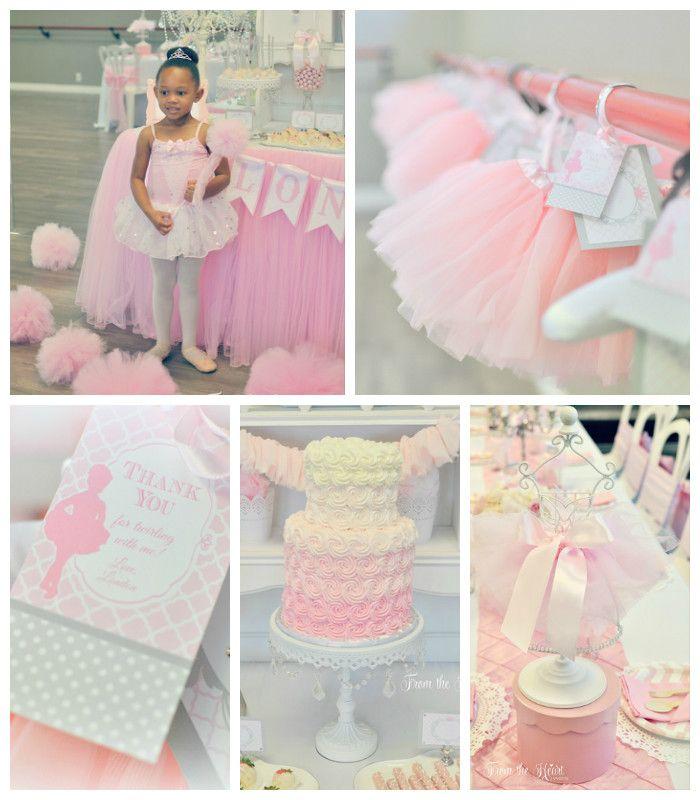 Tutus & Ties 4th Birthday Party via Kara's Party Ideas KarasPartyIdeas.com Cake, desserts, party supplies, printables, favors and more! #tutusandties #ballerinaparty #balletparty #balletpartyideas (1)