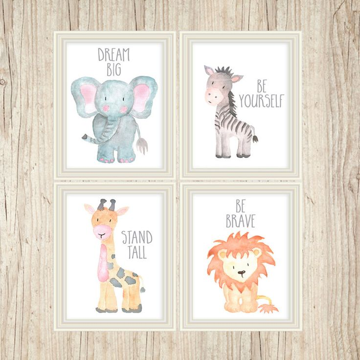 Safari Nursery Artwork Animal Work Child Animal Prints Animal Watercolor - http://babyfur.net/safari-nursery-art-animal-paintings-baby-animal-prints-animal-watercolor/