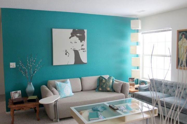Turquoise living room decor ideas