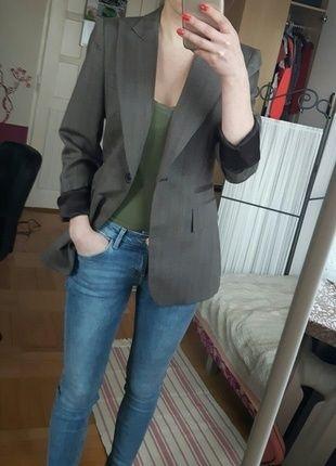 Kup mój przedmiot na #vintedpl http://www.vinted.pl/damska-odziez/marynarki-zakiety-blezery/12543083-zara-marynarka-boyfriend-welna-100  #zara #boyfriend #wool