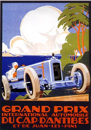 Vintage Grand Prix d'Antibes Fine Art Giclee Auto Racing Print                                                                                                                                                      More