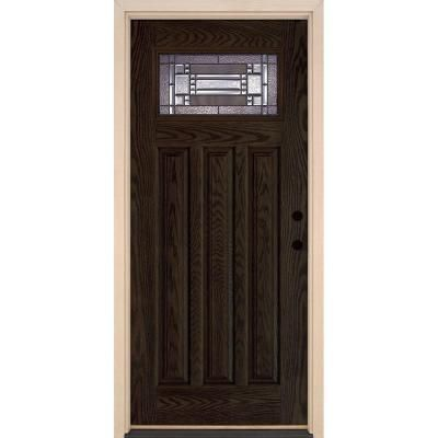 Feather River Doors Preston Patina Craftsman Stained