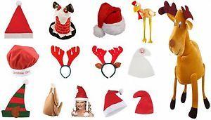 TURKEY ELF REINDEER TREE SANTA HAT CHRISTMAS PARTY FANCY DRESS STOCKING FILLERS | eBay