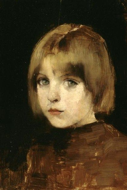 Portrait of a Girl by Helene Schjerfbeck (Finnish, 1862-1946)