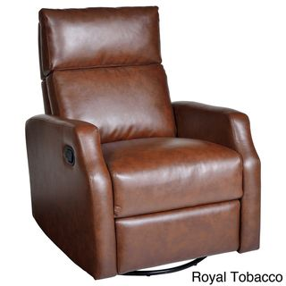 Sidney Bonded Leather Swivel Glider Recliner - Overstock™ Shopping - Big Discounts on Recliners