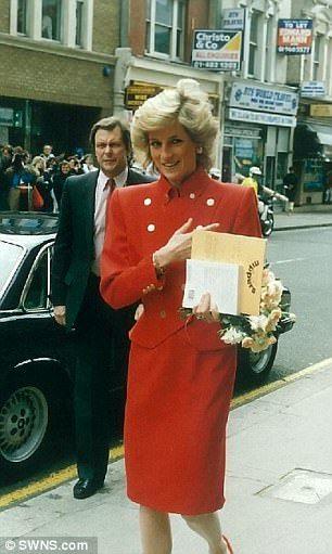 Diana in London in 1988