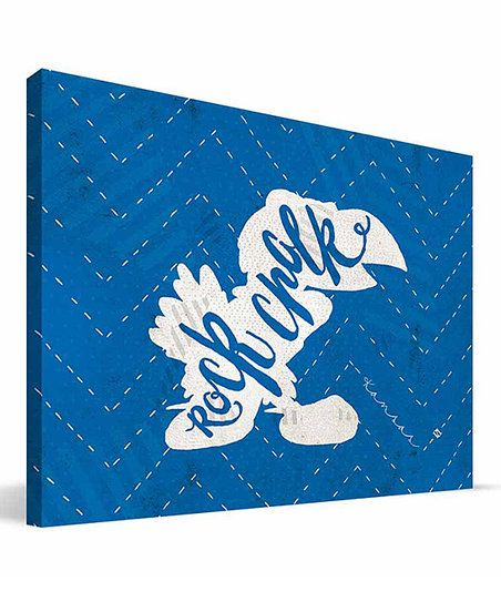 Paulson Designs Kansas Jayhawks Mascot Wrapped Canvas | zulily