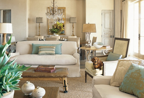 Very soothing palette. Rustic & comfortable elements but still very traditional and elegant.