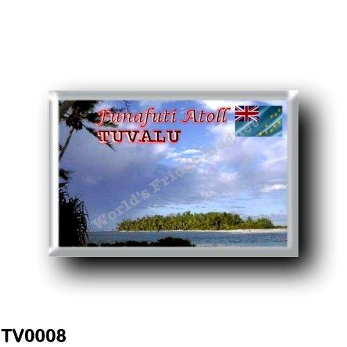 TV - Funafuti Atoll rectangular refrigerator magnet