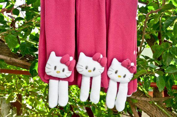 sciarpa in pile per bambine con hallo kitty  cucita by NukeMapu
