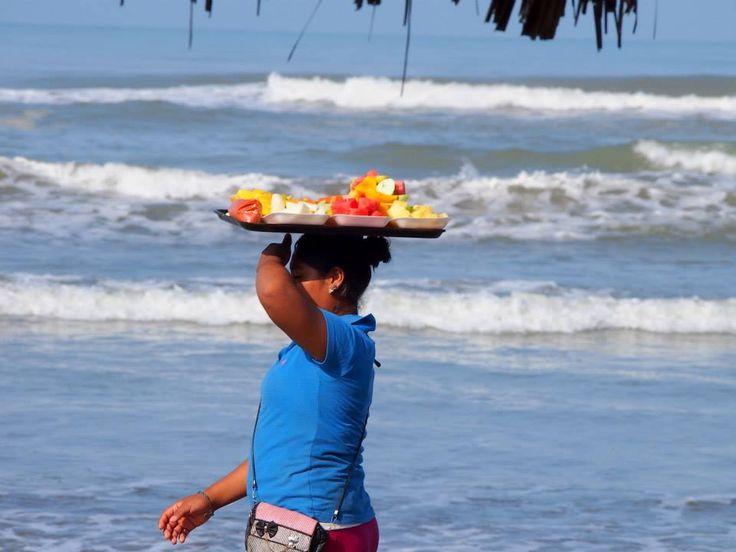 Mexico, Acapulco: a fruit seller