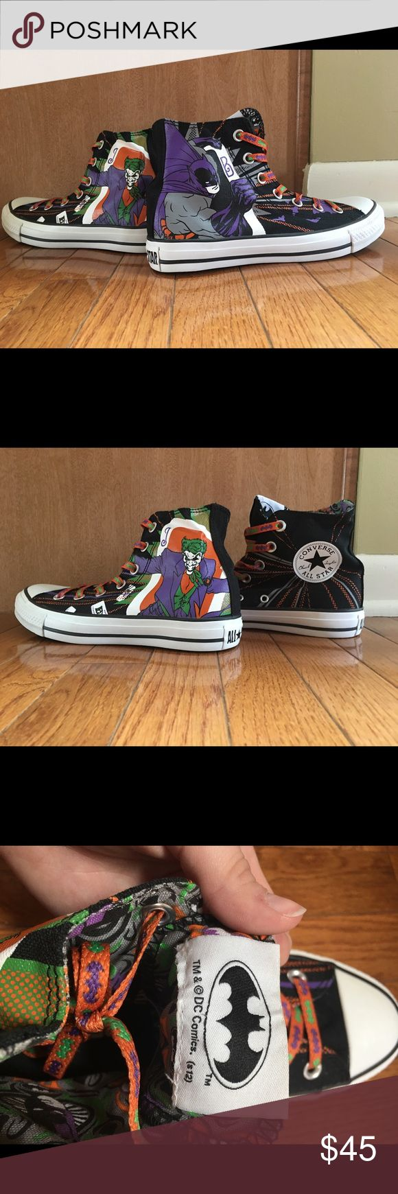 Selling this Converse DC Comics Batman/Joker High-Tops on Poshmark! My username is: miranic. #shopmycloset #poshmark #fashion #shopping #style #forsale #Converse #Shoes