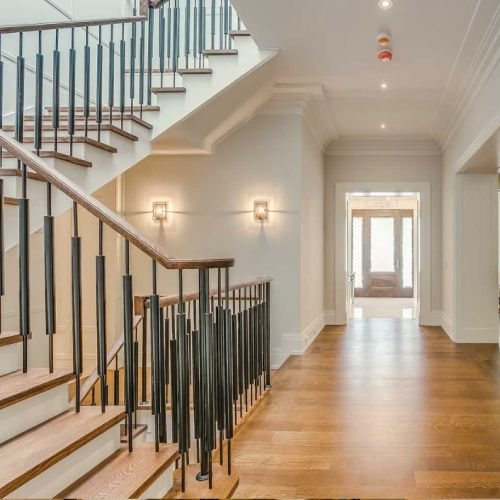 Residential architecture by Toronto architect, Lorne Rose. These images are of a property in the Forest Hill neighbourhood of Toronto. #architecture #toronto #luxury #home #renovation #residentialarchitect #architect #modern #foresthill #interior #design #decoration #interiordesign #interiordecorating #stairs #staircase #door #light #naturallight
