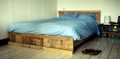 Bed-steigerhout-vooraanzicht