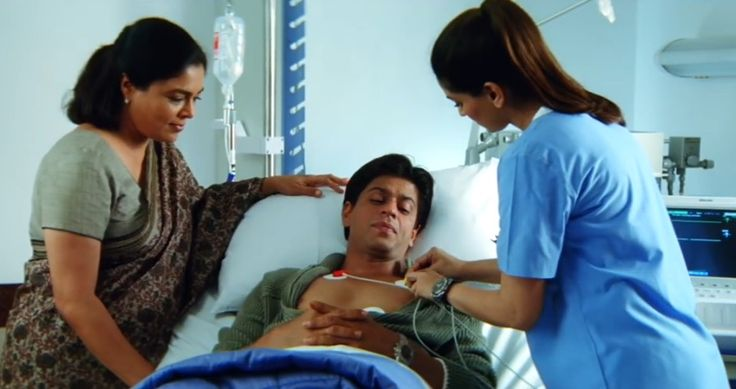 SRK and a doctor don't worry it's just a movie scene kal ho na ho