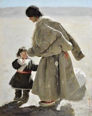 2003 TIBETAN MOTHER & CHILD, Xu Weixin (徐唯辛; b1958, Urumqi, Xinijiang Province, China)