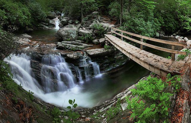 Skinny Dip Falls, NC Off the Blue Ridge Parkway