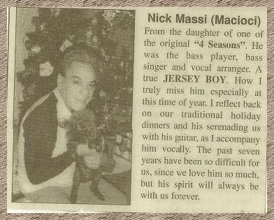 Nick Massi's daughter wrote this.