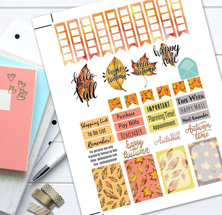 Autumn Leaves Fall Theme Planner Weekly Sticker Kit autumn, Classic Happy Planner, Craft Supplies & Tools, fall, Happy Planner, Labels, Leaves, MAMBI, Party & Gifting, Planner Sticker Set, Planner Stickers, Printable Stickers, Stickers, Tags Stickers, Themed Sticker Set, Weekly Planner Set, Weekly Stickers Set