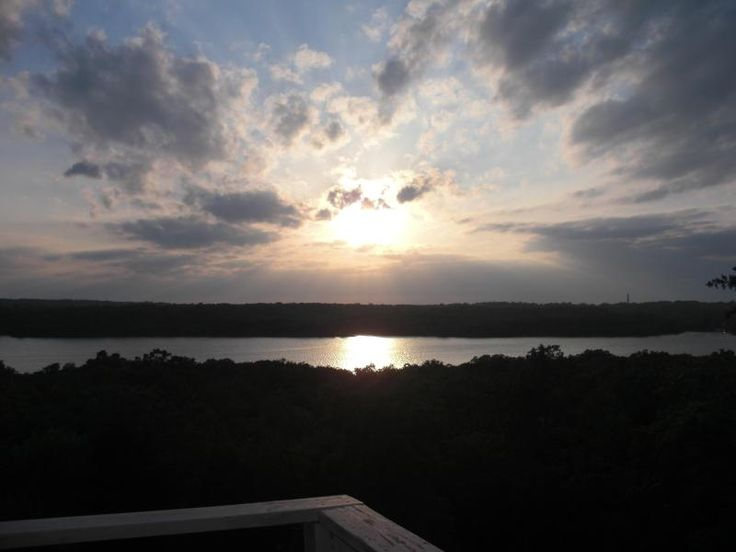 Sunset view from deck Arbuckle Lake