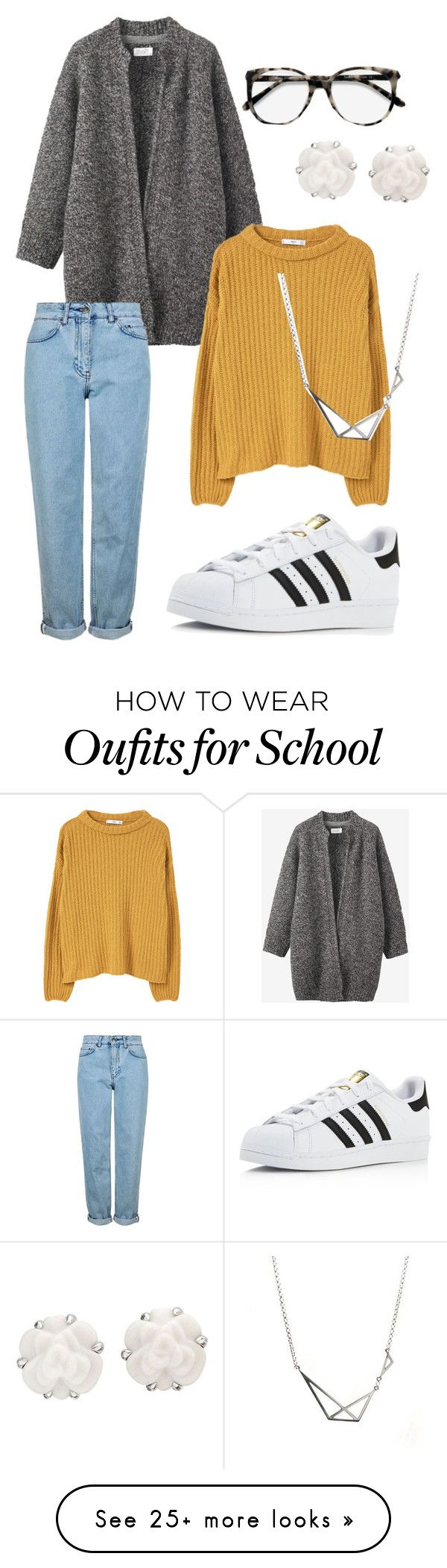 """back to school"" by charlottkfm on Polyvore featuring Toast, Topshop, Ace, adidas, MANGO and Chanel"