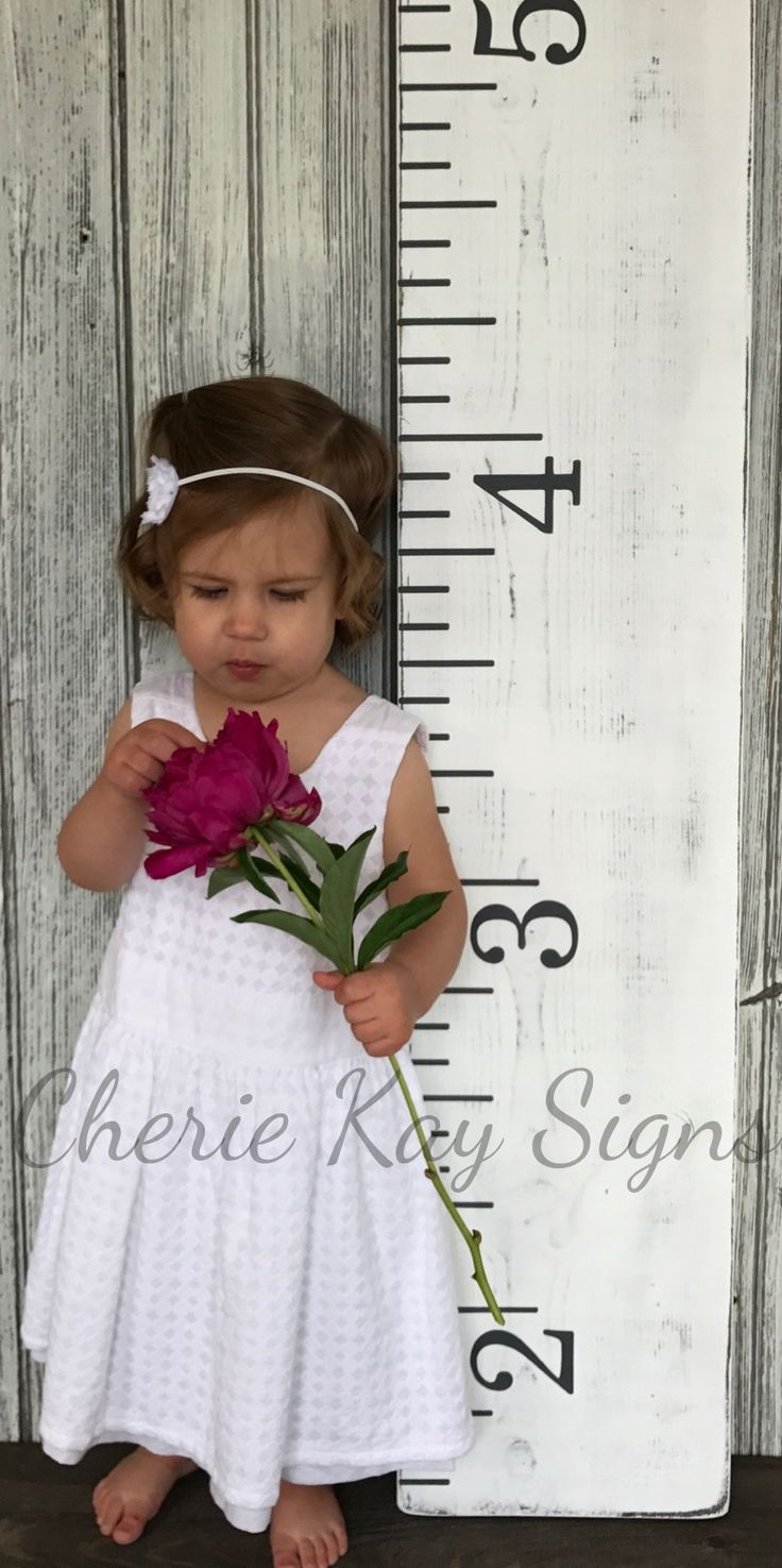 "Growth chart | nursery wall art | growth chart ruler | growth tracker | nursery wall decor | wood signs | 9.25"" x 48"""