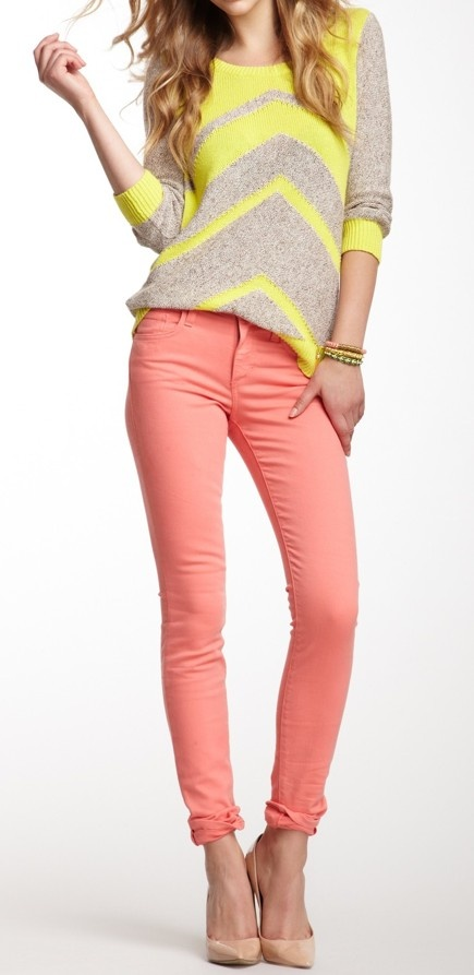 Neon + coral. This is so me, mixing colors.