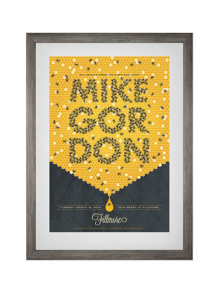MIKE GORDON • FILLMORE SF • 3/18/2014 Poster for Phish bassist Mike Gordon's solo project. Buy now.