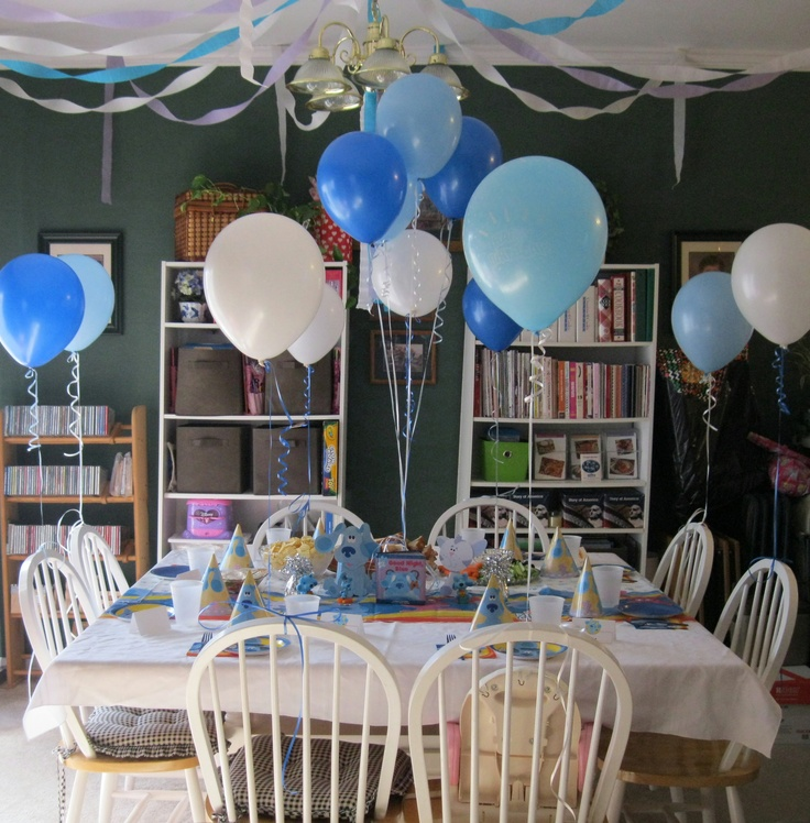 Blue's Clues Birthday Party Itinerary