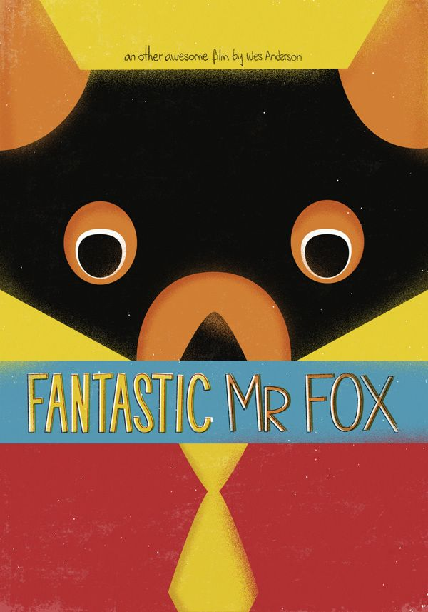 Fantastic Mr. Fox (2009) ~ Minimal Movie Poster by Celeste Aires ~ Wes Anderson Series #amusementphile