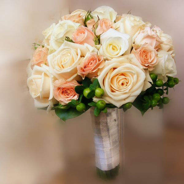 Rose pastelle bridal bouquet