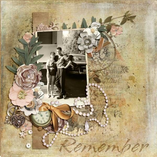 Remember when... Created using Back In Time - Full Collection Bundle by Laitha's Designs. #theStudio #digitalscrapbooking