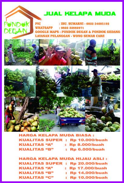 """Jual beli KELAPA MUDA di Lapak TOKO PRANATA - toko_wong_semar. Menjual Minuman - """"Hidup sehat tidak harus mahal""""  Membiasakan hidup sehat tidak selalu dengan sesuatu yang di proses secara kimia ada juga yang di proses dengan cara alami, salah satunya dengan mengkonsumsi buah kelapa muda asli.  Biasakan diri hidup sehat yang alami dan semua itu bisa di dapatkan di kampoeng Babatan  Surabaya Barat dengan harga yang sangat bersaing tentunya dan cocok untuk semua kalangan, karena PONDOK..."""