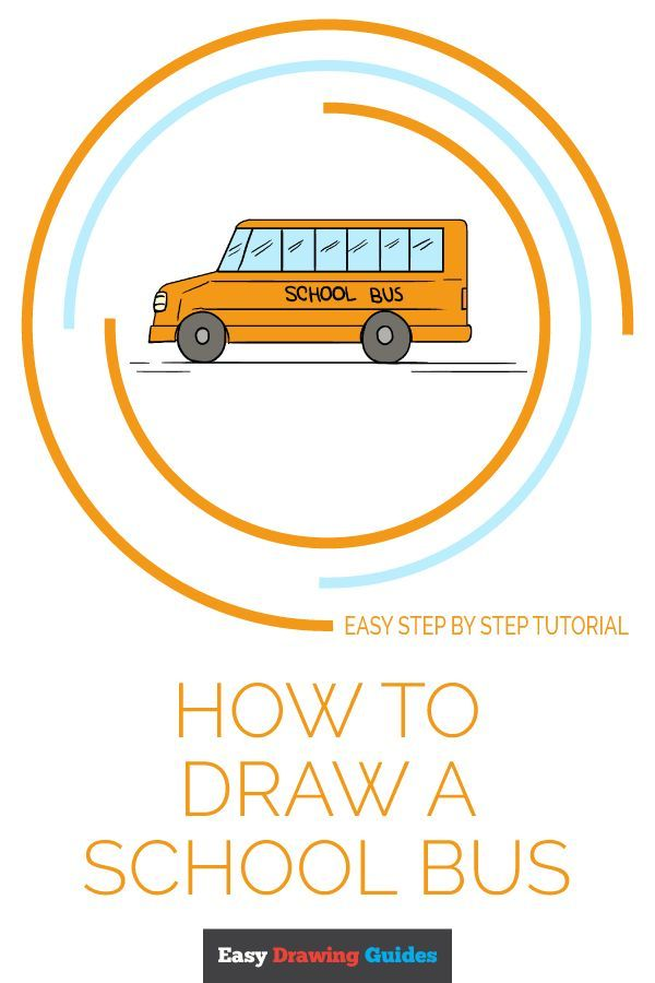 How To Draw A School Bus Easy Step By Step Drawing Tutorial How